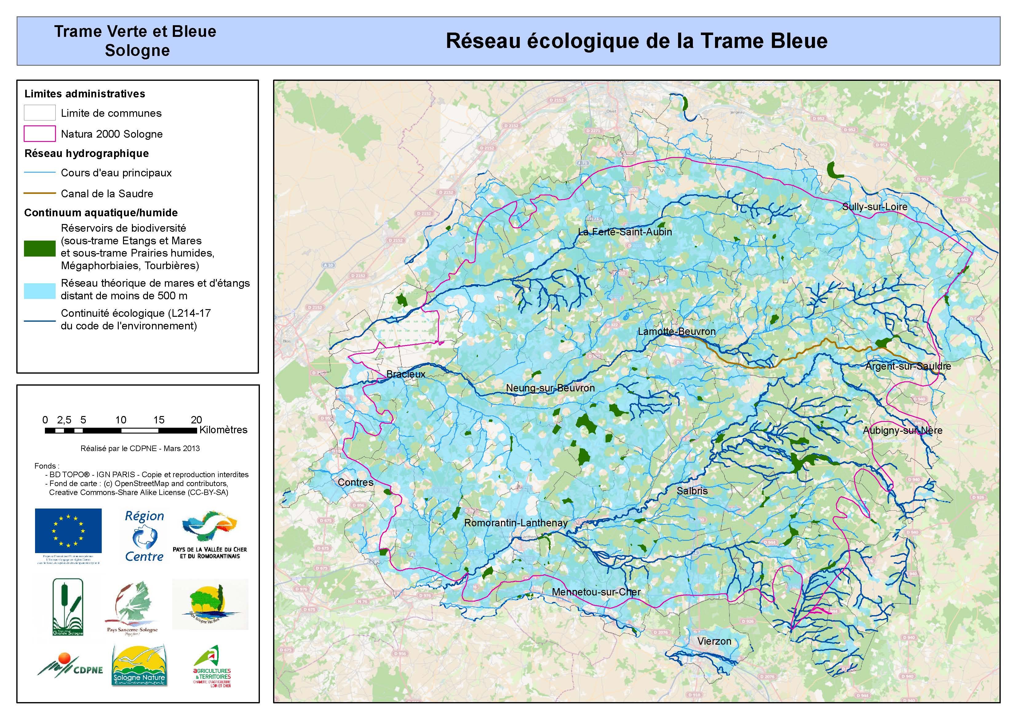 Réseau écologique Trame Bleue