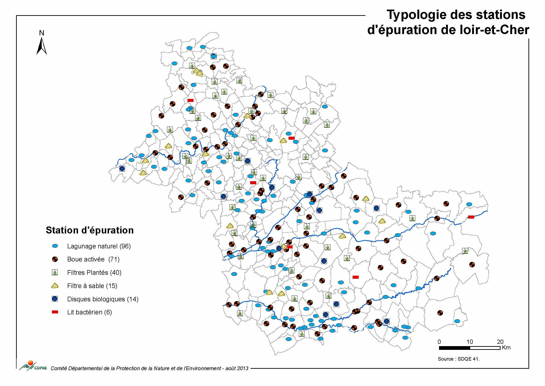 Typologie des stations d'épuration