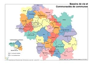 Bassins de vie et Communautés de communes en Loir-et-Cher